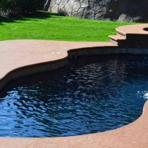 concrete plunge pool